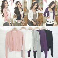 Womens Casual Knitted Cardigan Sweater Long Sleeve Coat Jacket Outwear  Knitwear