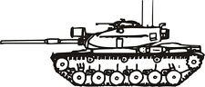 M - 60 Tank Military Vinyl Decal Sticker Window Wall Car Sign