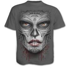 Muerto Death Mask Grey T Shirt by Spiral Direct Rock Metal Alternative Unisex T