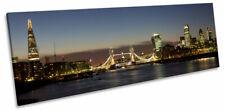 City of London Tower Bridge Skyline CANVAS WALL ART Panoramic Framed Print