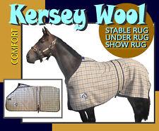 """COMFORT COLLAR CHECK KERSEY WOOLLEN HORSE RUG """"FREE POSTAGE"""""""