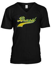 Brazil Script Cursive Fancy Republica Federativa Do Brasil Mens V-neck T-shirt
