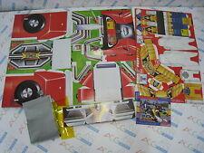 Power Ranger Turbo Gekisou Carranger Paper Card RV Robo Mask & Sword Set Japan