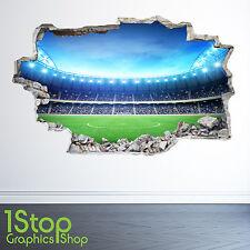 Estadio de fútbol PARED ADHESIVO 3D Look-Niños Niños Dormitorio de la etiqueta de la pared Z29