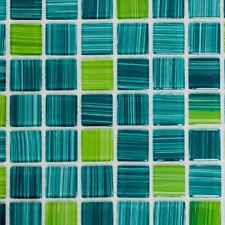Glasmosaik strichgrün Schwimmbad Pool Küche Bad WC Sauna   64-0509_f   10 Matten