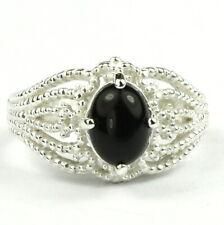 • SR365, Black Onyx, 925 Sterling Silver Ladies Ring -Handmade