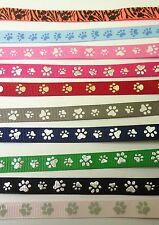 Geschenkband Deko Band Bastel Hund Katze Pfote Tatze 97 cm 1 cm div Farben NEU