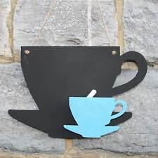 Chalk Blackboard Tea Cup Shape for Memos Notes & Home Decor