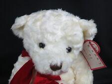NEW ZALES JEWELRY DIAMOND STORE WHITE TEDDY BEAR RED GIFT SACK PLUSH STUFFED TOY