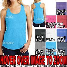 Ladies Tri-Blend Racerback Tank Top Womens T-Shirt Top XS-XL, 2XL, 3XL, 4XL NEW
