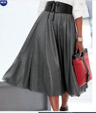 Ashro Gray Jada Cutout Full Skirt Size L XL 1X 2X 3X BELT NOT INCLUDED