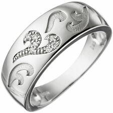 Anello da Donna Anello 7 Diamanti Brillanti motivo onde oro 585 ORO BIANCO Goldring