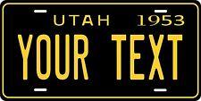 Utah 1953  License Plate Personalized Custom Auto Bike Motorcycle Moped  key tag
