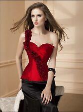 Sexy corsé bustier burlesque ceñidor lencería ropa interior mujer rojo c130
