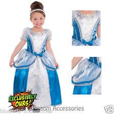 KK10 Deluxe Cinderella Girls Fairy Tale Toddler Book Week Fancy Dress Up Costume
