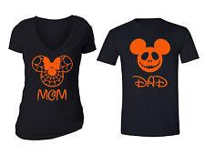 2 FOR 1 SALE: Halloween Matching Couple Vneck Crewneck Cotton Blend T-shirt S-6X