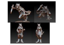 28mm Female Dragonborn D&D Onmioji multi listing