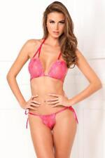 RENE ROFE 301188 Luxury Super Soft Decorative Lace Bra and Matching Thong Set