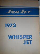 Sno Jet Factory Service Manual 1973 Whisper Jet