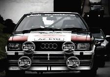 138589 AUDI QUATTRO RALLY RACING CAR SPORTS CANVAS PRINT Leinwand