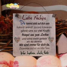 Shabby Style - Liebe Nichte -Wir- Holzschild Geschenk Deko HandsArt