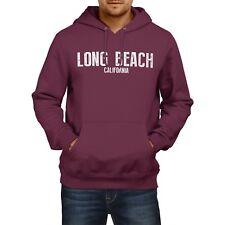 Long Beach California SLOGAN Mens US HOODIE America Football Hoody Sweatshirt