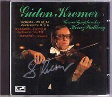 Gidon Kremer SIGNED PAGANINI violin concerto 1 kupkovic Schumann Wall montagna CD
