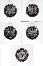 BRD 5 DM in Polierter Platte  PP ( Wählen Sie zwischen 1975 -2001 )