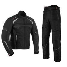 Motorcycle Clothing Cordura Jacket + Trousers Suit Black