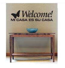 Vinilo Decorativo Para Pared Welcome Mi Casa Es Su Casa Wall Decal Quotes (1)