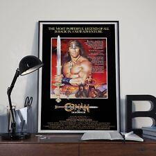 Conan, el destructor Schwarzenegger Pelicula Peli Cine Impresión Póster Foto A3 A4