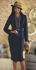 Ashro Navy Blue Gold Formal Wedding Anna Maria Jacket Dress 6 8 10 18W 20W 24W