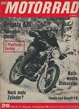 Motorrad 26 65 Benelli V8 WORO AJS Motor Show Tokyo 1965 Japan Asien Motorräder