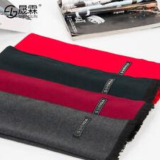 Men Winter Warm Outdoor Cashmere Silk Scarf Muffler Wraps Shawl Neckerchief Gift