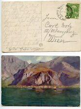 Austria 1908 postcard Cattaro - Trieste ship mail