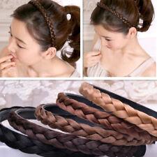 Womens Girl Vintage Wig Headband Braids HairBand Korea Style Headband Hair Decor