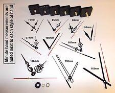 DIY Quartz Clock Movement / Mechanism. Silent Motor. Black Hands & Parts
