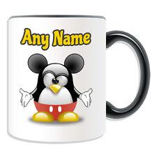 Personalised Gift Mickey Mouse Mug Money Box Cup Funny Novelty Penguin Cartoon