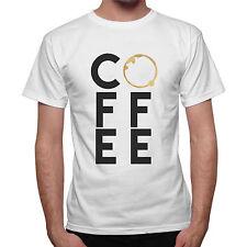T-Shirt Uomo Idea Regalo Scritta Coffee Tazza