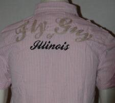 Para hombres Camisa Fly Guy Soul Star Rosa Moda Cheque Pequeño S insignias MS empuje Llano