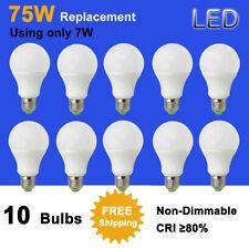 10x E27 A22/A70 LED Globe Light Bulb lamp 7W 12-24V/85-265V 75W Equivalent #T