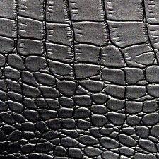 PVC Kunstleder Aligator Schwarz Leder Imitat matt Polsterei Sattlerei 140 cm br.
