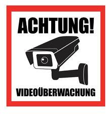 1-50 Stk. ACHTUNG Videoüberwachung Aufkleber Hinweisschild Warnaufkleber Kamera