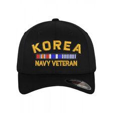 Flexfit BASEBALL Military Cap Hat KOREA NAVY VETERAN RIBBON