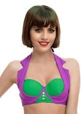 DC COMICS LICENSED THE JOKER SWIM TOP bathing bikini NWT XS SMALL MED  LARGE  XL