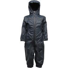 Regatta Kids Paddle Waterproof Breathable Rain Suit TRW466 Navy
