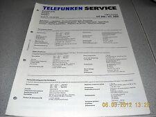 SINTONIZZATORE TELEFUNKEN ht850 ht1800 HIFI service manual