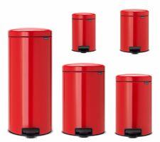 brabantia NewIcon Treteimer Rot Mülleimer 3-30 Liter in Passion Red Nachhaltig