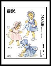 McCall's #2446 Helen Lee Sewing Pattern Pinafore Dress Panties Baby BONNET Doll