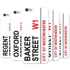 Famous London Landmarks Street Sign Hard Case Phone Cover for Apple Phones